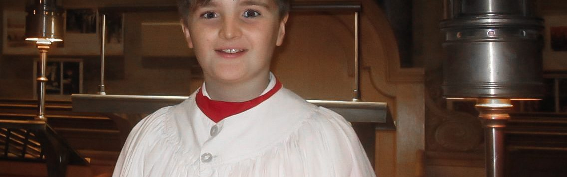 13 year old Luke McWatters, this year's Radio 2 Chorister of the Year. See News story